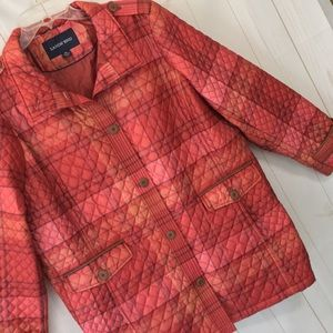Lands' End Quilted Plaid Jacket
